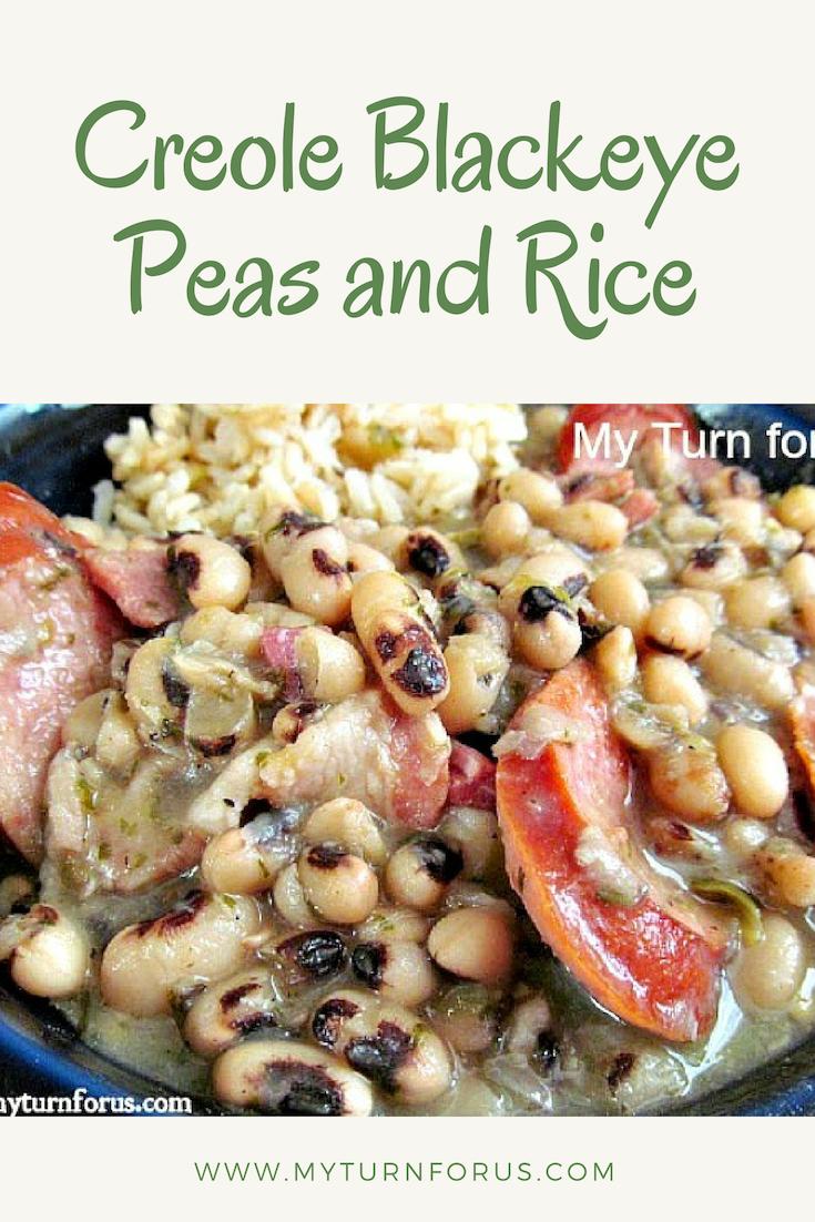 Creole Blackeye Peas and Rice #cajunandcreolerecipes