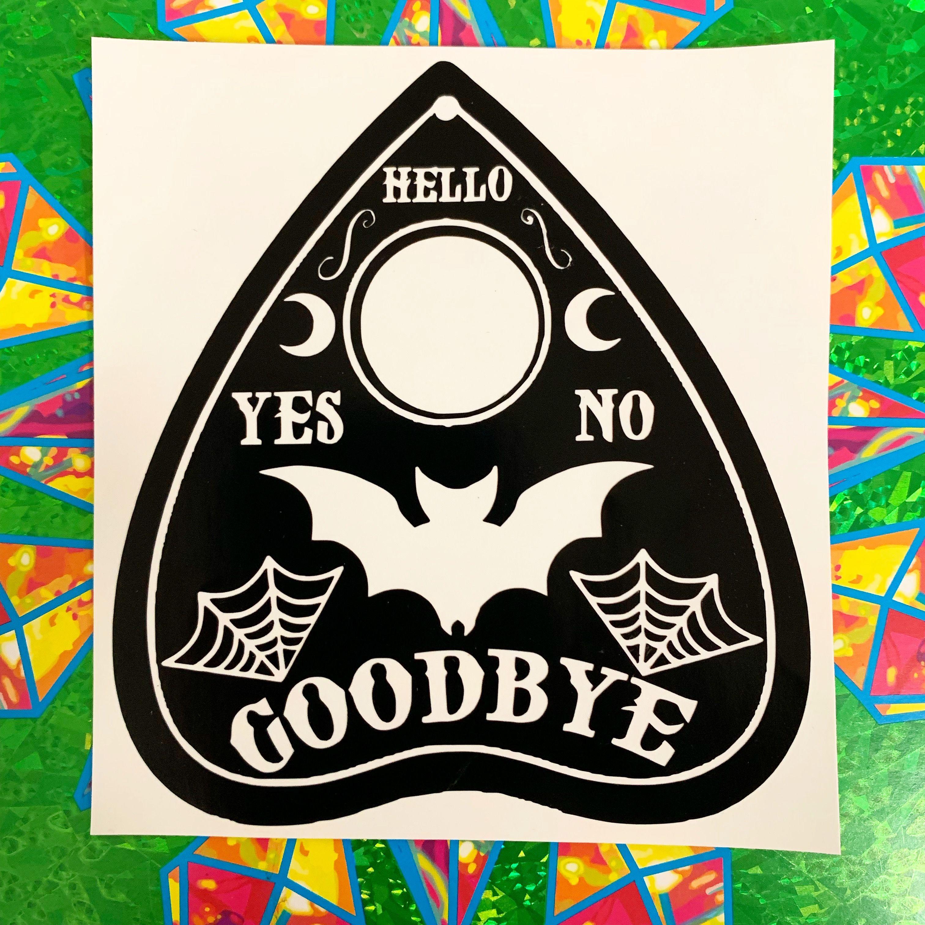 Ouija Bat Planchette Sticker Decal Vinyl Decals Vinyl Sticker Cricut Vinyl