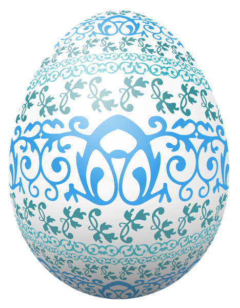 Easter White Egg With Blue Decoration Png Clipart Picture Easter Images Easter Pictures Spring Coloring Pages