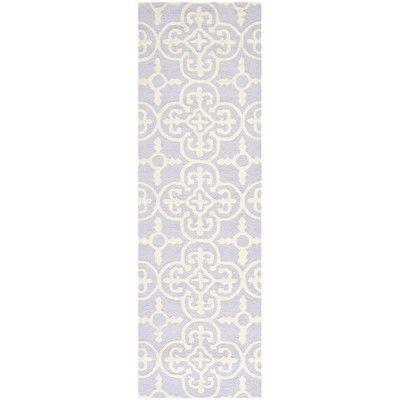 Varick Gallery Martins Lavender / Ivory Area Rug Rug Size: