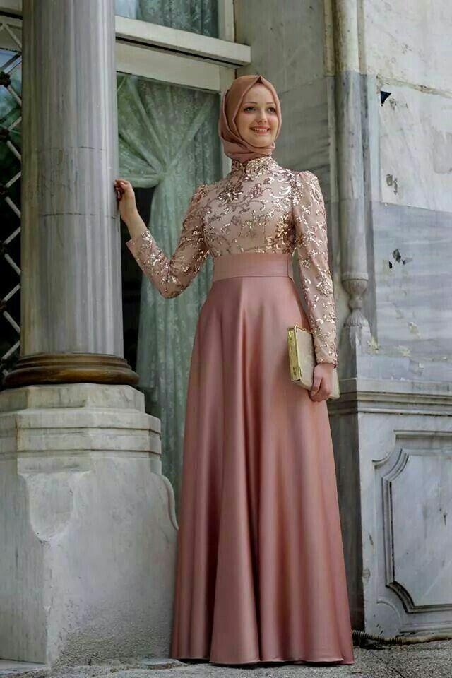 Hijab dress soiree حجاب فستان سهرة | فستان حجاب للسهره Hijab soiree ...