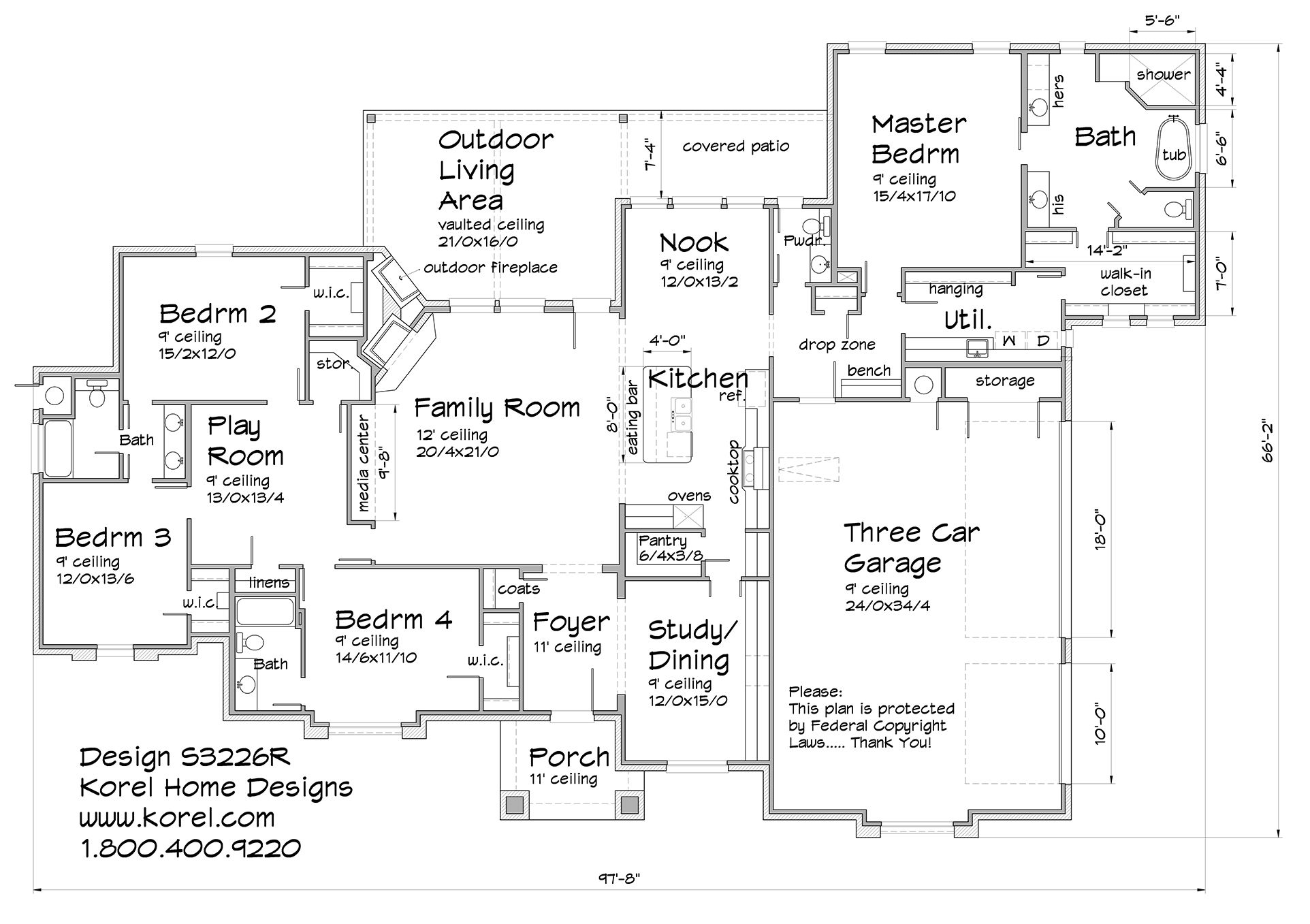 S3226r Texas House Plans Over 700 Proven Home Designs Online By Korel Home Designs House Floor Plans House Plans Floor Plans