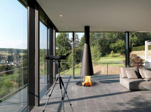 Haus Einrichtungsideen 20 einrichtungsideen für hängenden kaminofen im modernen haus home