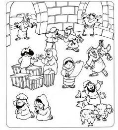 Jesus Cleanses The Temple Coloring Page Coloring Pages