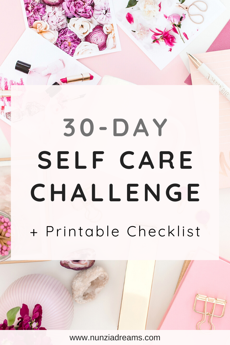 30 Days of Self Care Challenge Checklist in 2020 Self