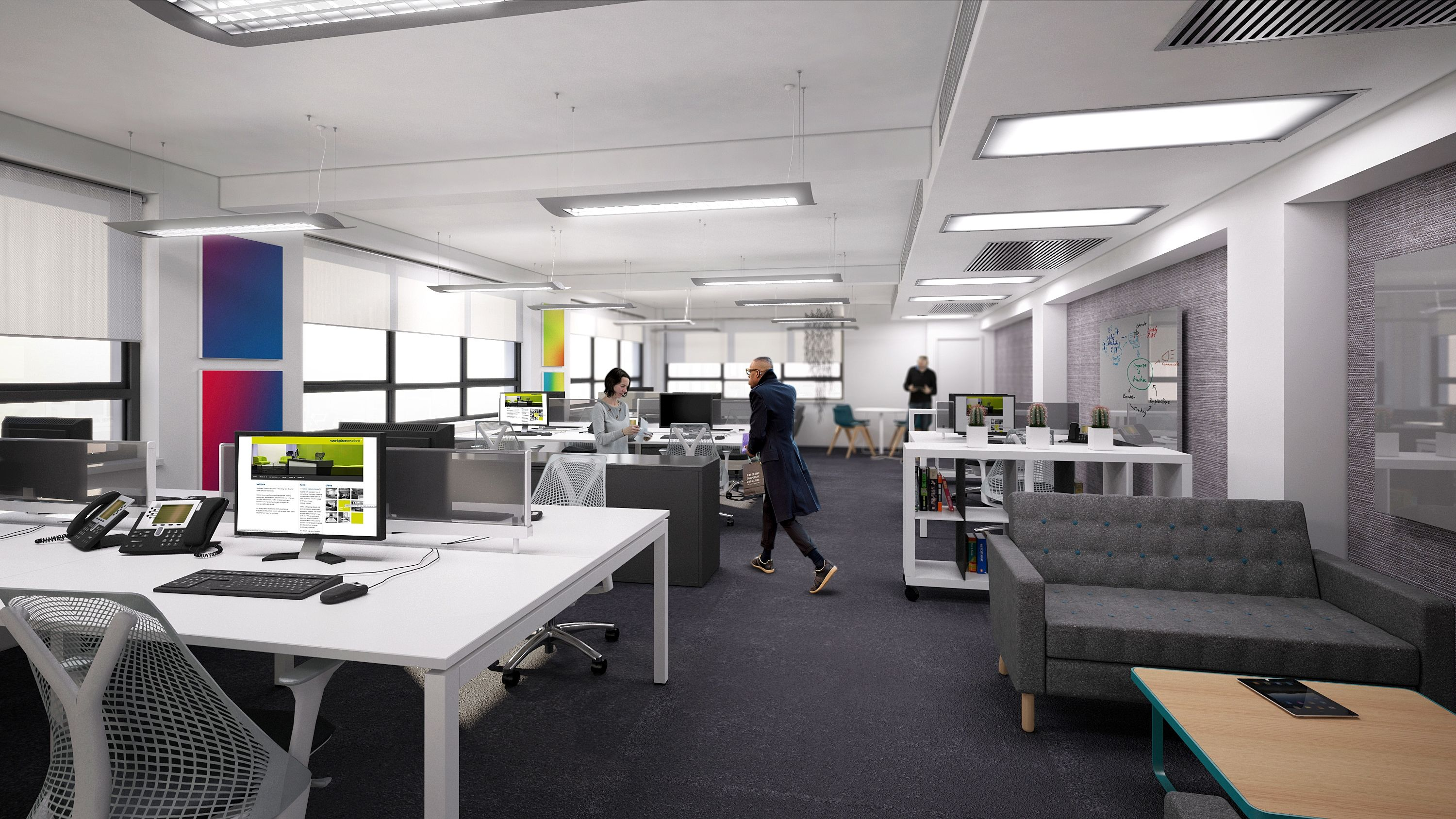 Visual Of Open Plan Office Space Copyright Workplace Creations