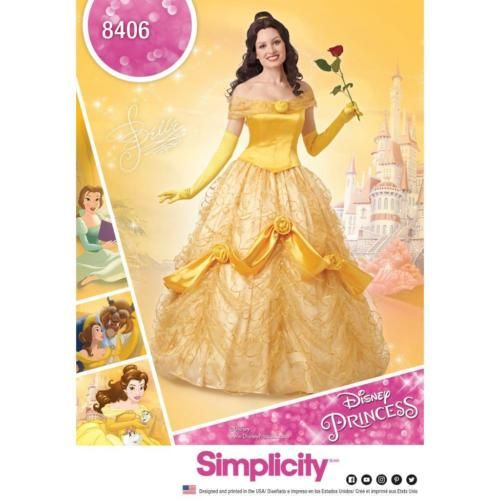 SIMPLICITY SEWING PATTERN MISSES Disney Beauty The Beast DRESS Delectable Disney Sewing Patterns