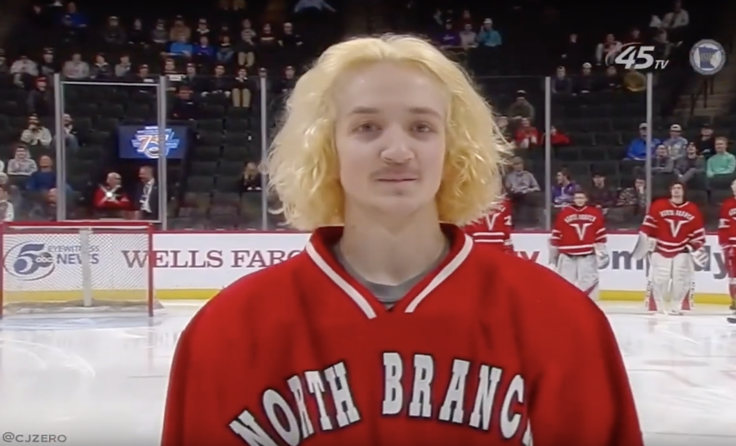 The Best Hair At The Minnesota Boys High School Hockey Tournament Hockey Hair Hockey Tournaments Cool Hairstyles