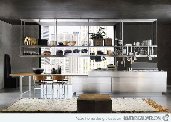 12 Metal Kitchen Cabinet Ideas Metal Kitchen Cabinets Metal Kitchen Kitchen Design