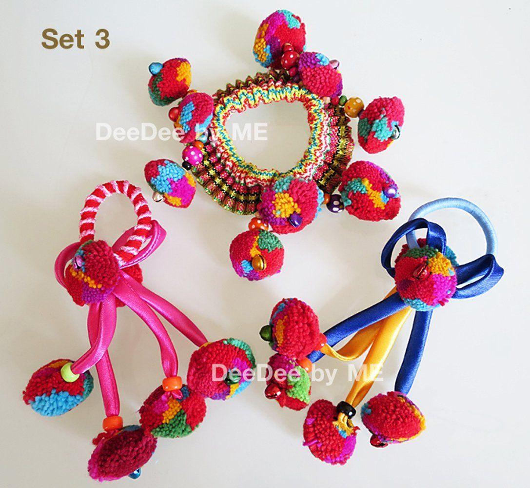 Set 3 Elastic Band Hair Tie Thailand Hand Made Thailand Premium