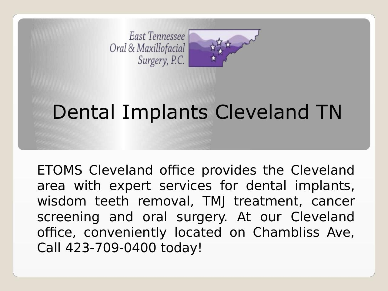 Dental implants are replacement tooth roots. Dental