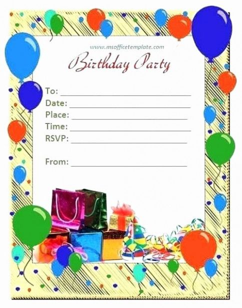 This Is How Open Office Birthday Invitation Template Will ...
