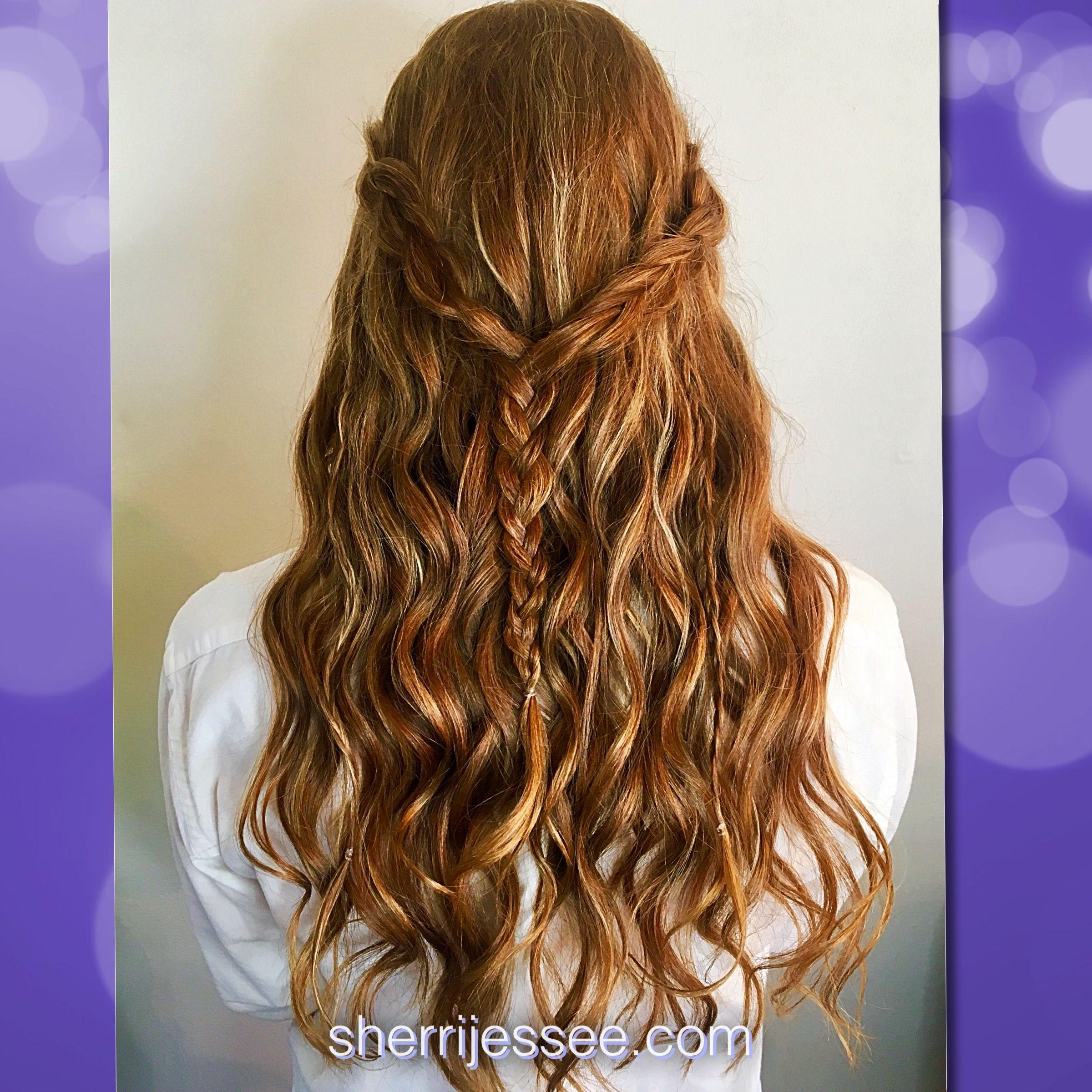 promhair #prom #halfup #curls #braids #bohemian