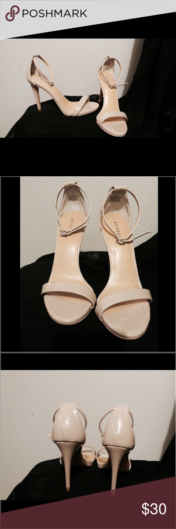09f0080e6b7 Express Nude Strappy Heels Express nude strappy heels perfect for your next  holiday party! These