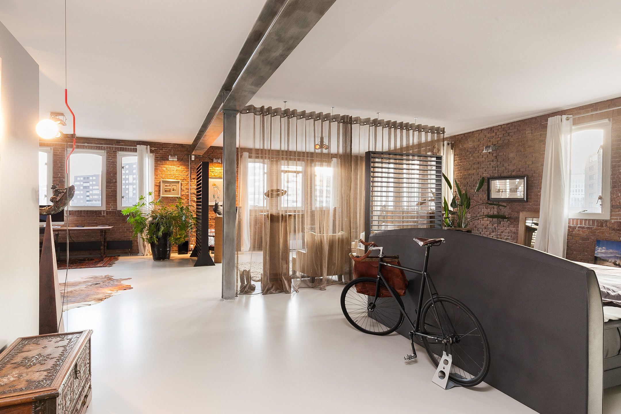 Open space livingroom bedroom loft penthouse rotterdam