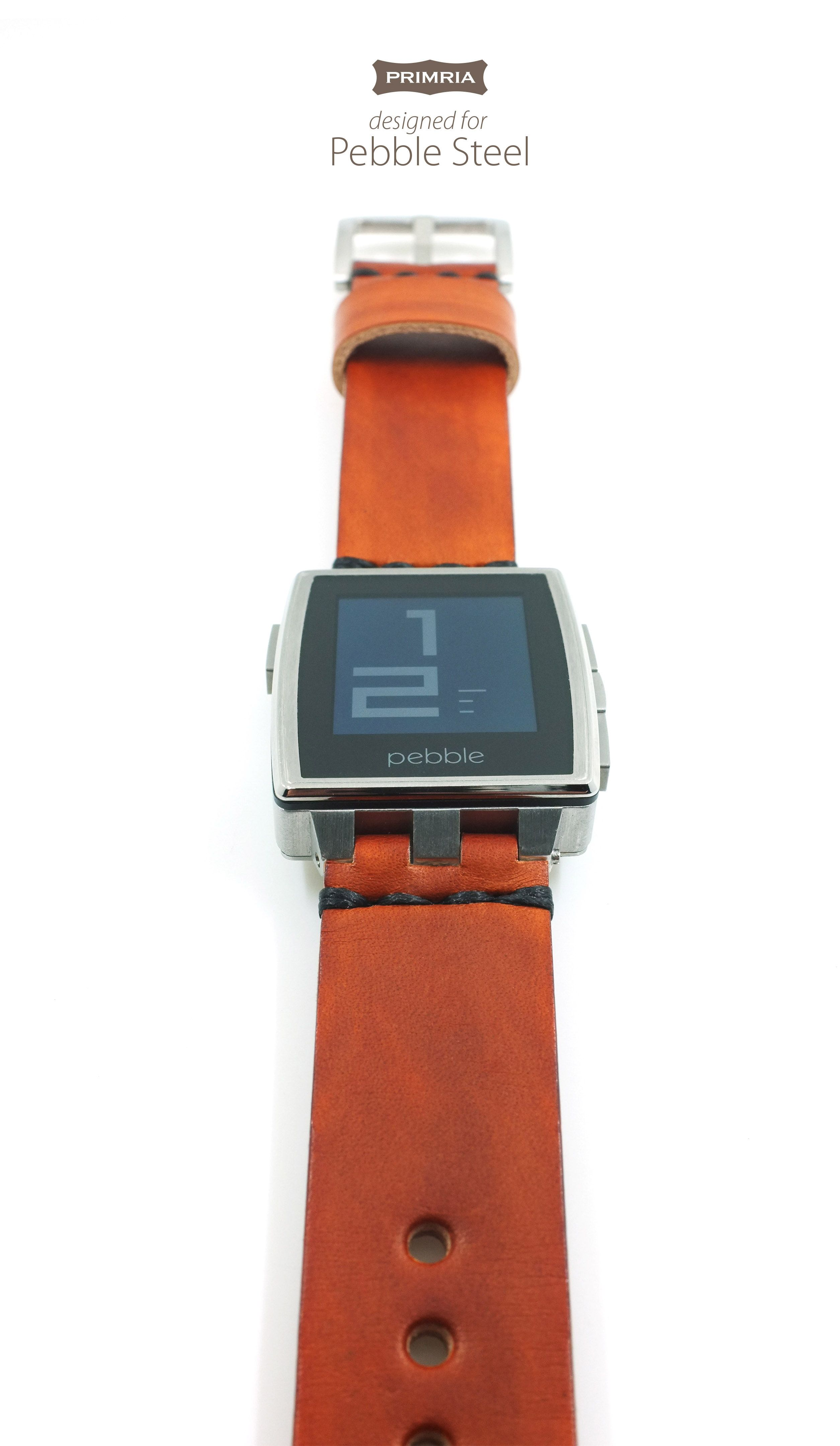 Classic touch to your Pebble Steel with Primria Leather Straps
