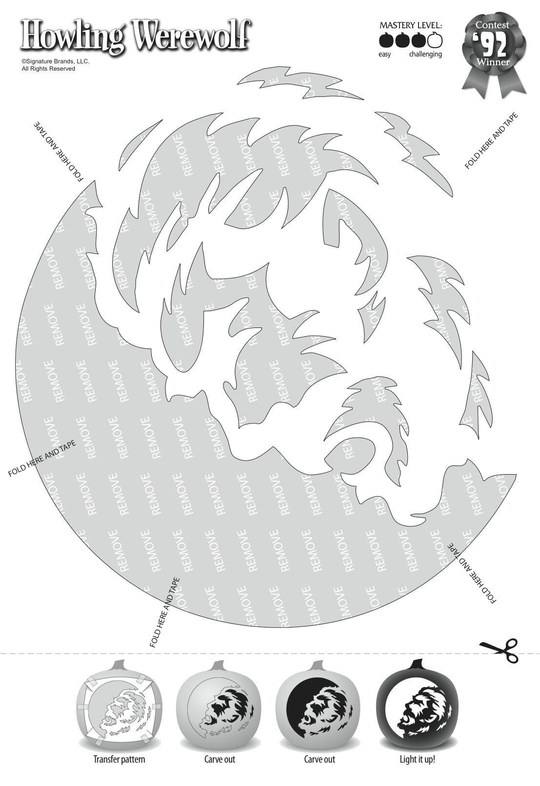 Howling Werewolf Fall Halloween In 2018 Pinterest Halloween