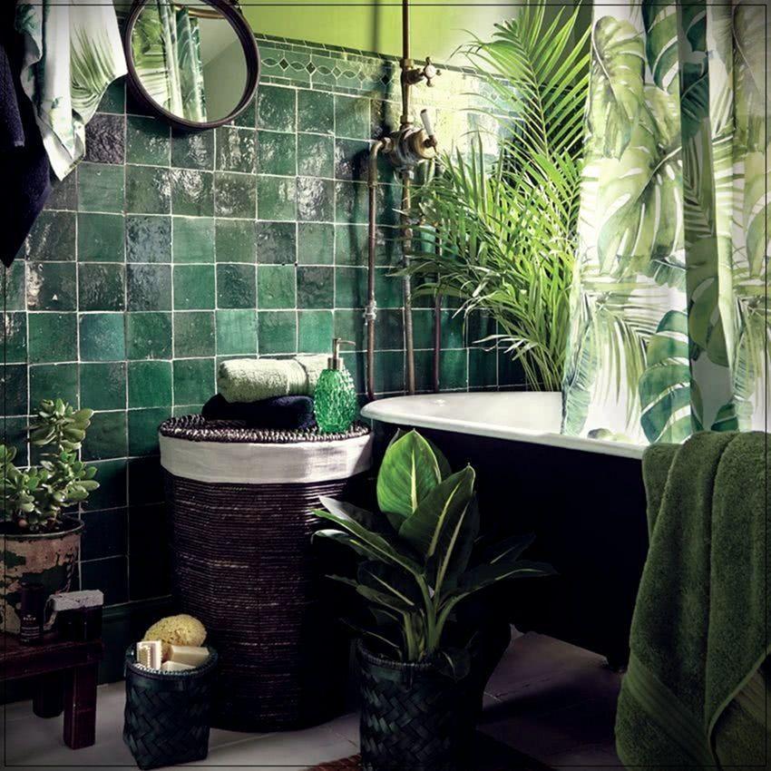 9 Fantastic Jungle Bathroom Decoration, Jungle Bathroom Decor