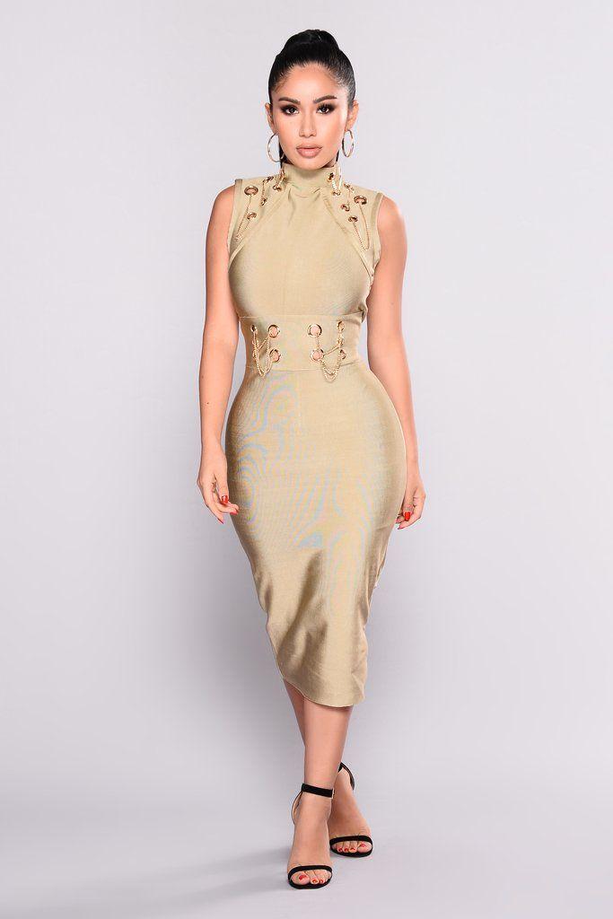 367fc74d5fcb Change This Love Bandage Dress - Olive
