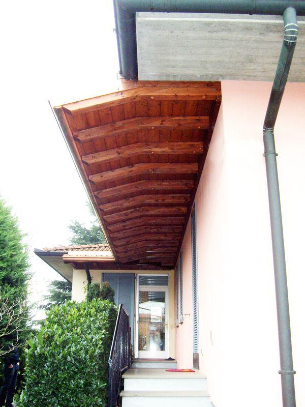 tettoia copri scala angolare a sbalzo a due falde linea classica profondit cm 180