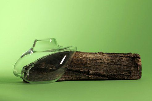 Marco Merkel, nature inspired glass blowing mould