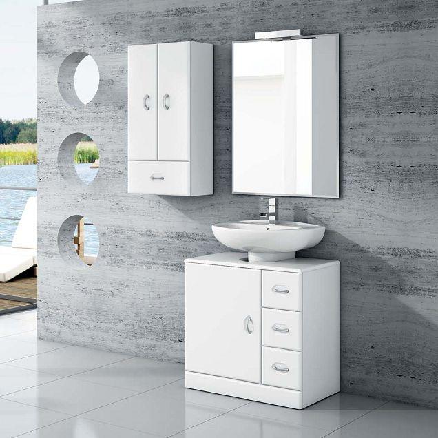 Mueble ba o lavabo pedestal 63 tu cocina y ba o dise o for Mueble para lavabo con pedestal