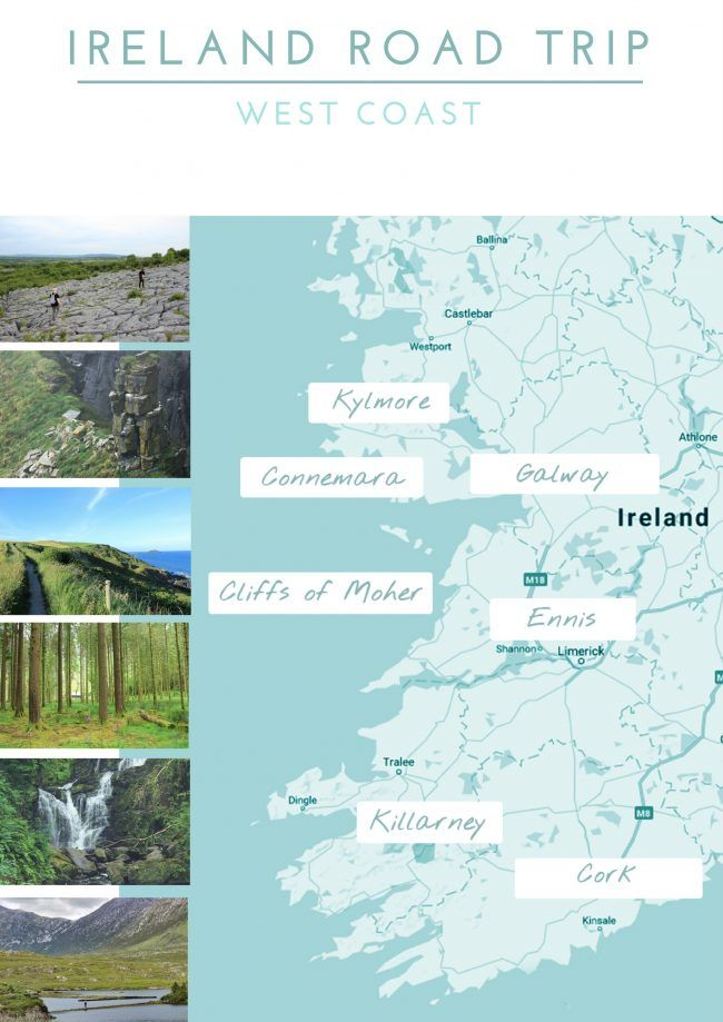 Map Of Ireland Galway.Ireland Road Trip Itinerary 4 Things To Know Before You Go On A