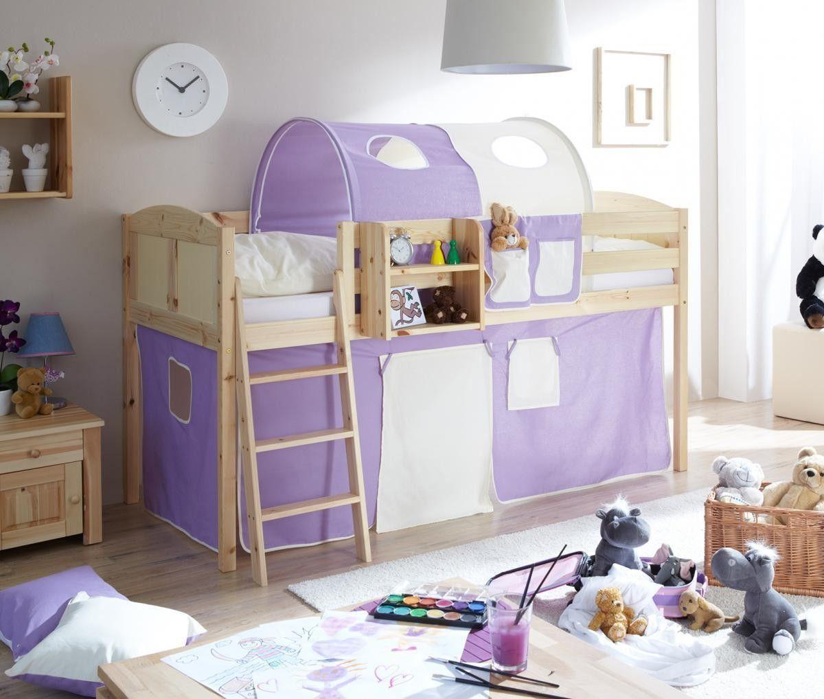 Kinderzimmer Lila Beige kinderzimmer dachschrge einrichten mdchen lila beige Ticaa Hochbett Eric Country Kiefer Natur Lila Beige Jetzt Bestellen Unter Https