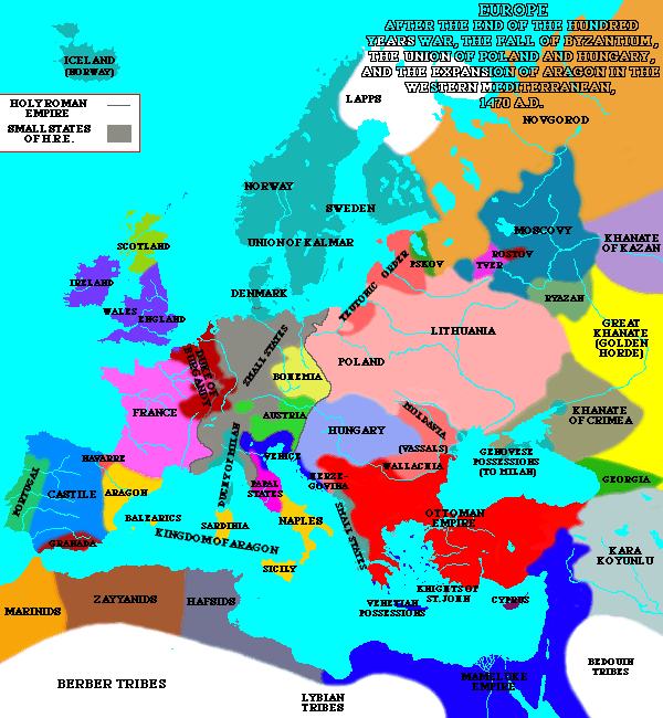map of europe 1450 medieval romania map 1450 AD   Google Search | European history