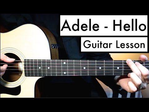 Adele Hello Guitar Tutorial Guitar Lesson Easy Chords