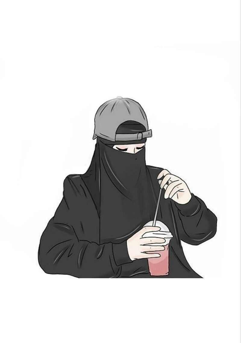 Stay cool with niqab kartun gambar dan animasi