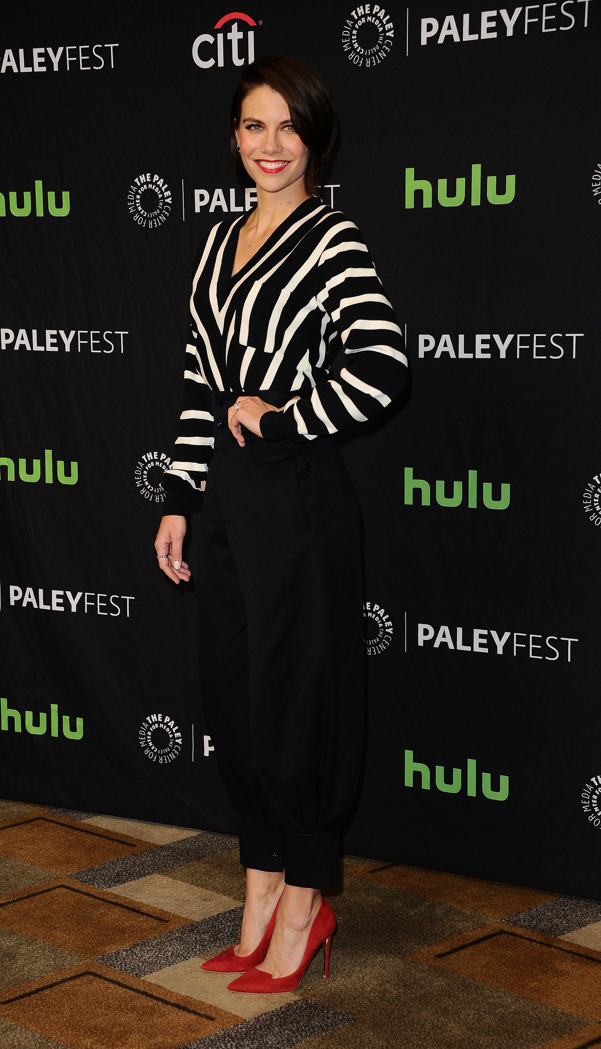 56844cc42276fa Lauren Cohan - The Walking Dead Panel at PaleyFest LA - 3 17 17 ...