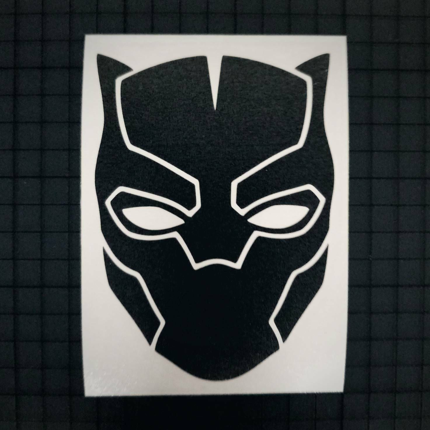 Black Panther Mask - Solid Design - 16 colors & Multiple Sizes by RidinNerdy on Etsy