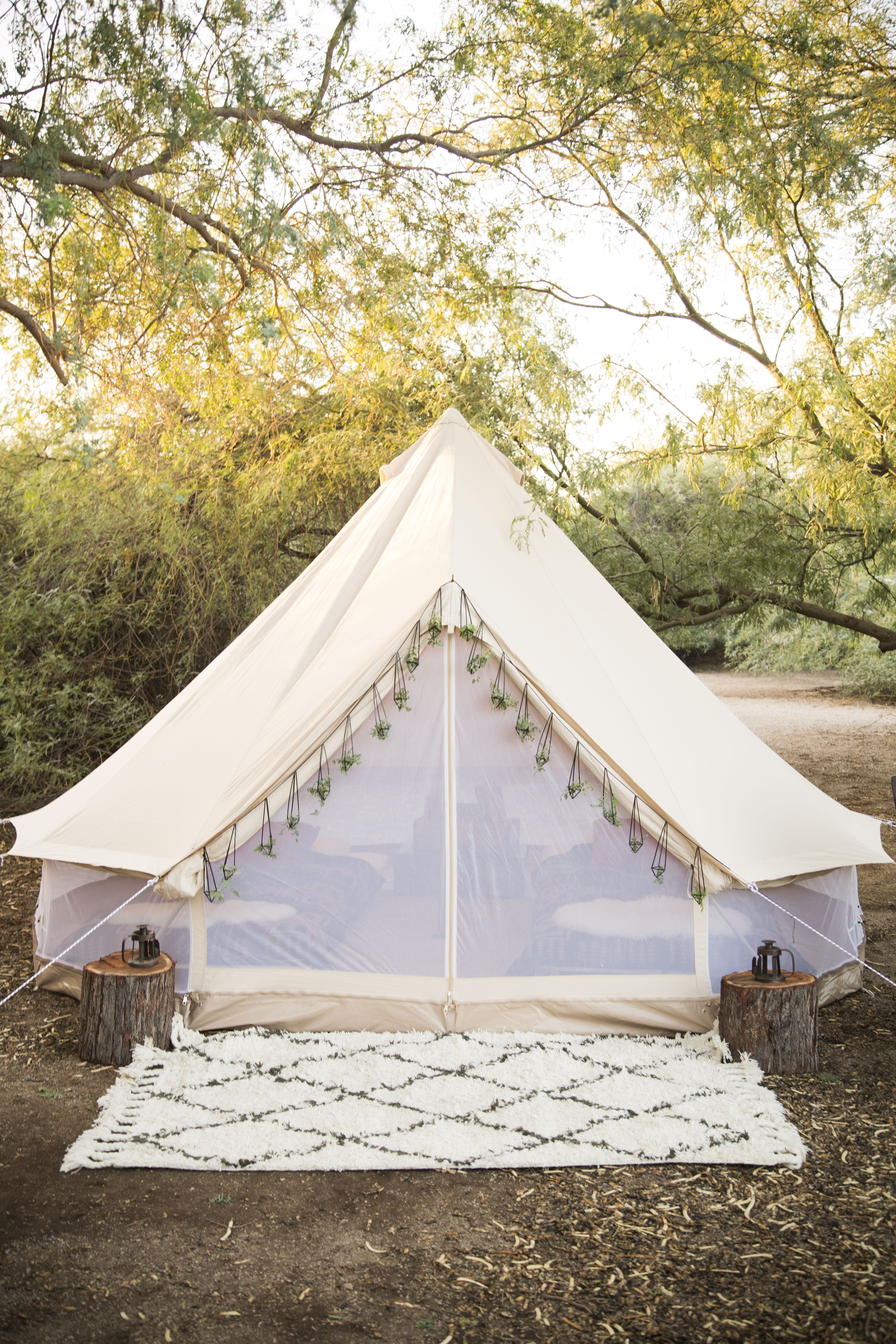 Double wall version with canvas sides rolled up netted for How to make a canvas tent