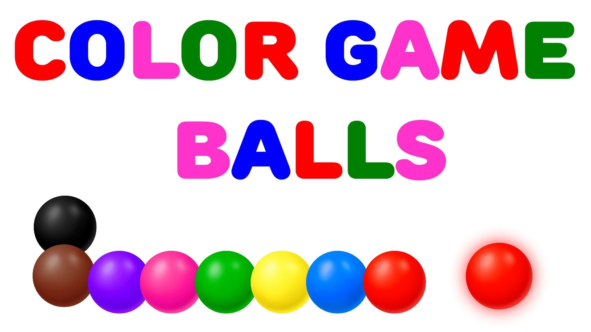 Learn Colors with Color Balls Game - Colours for Children | Little ...