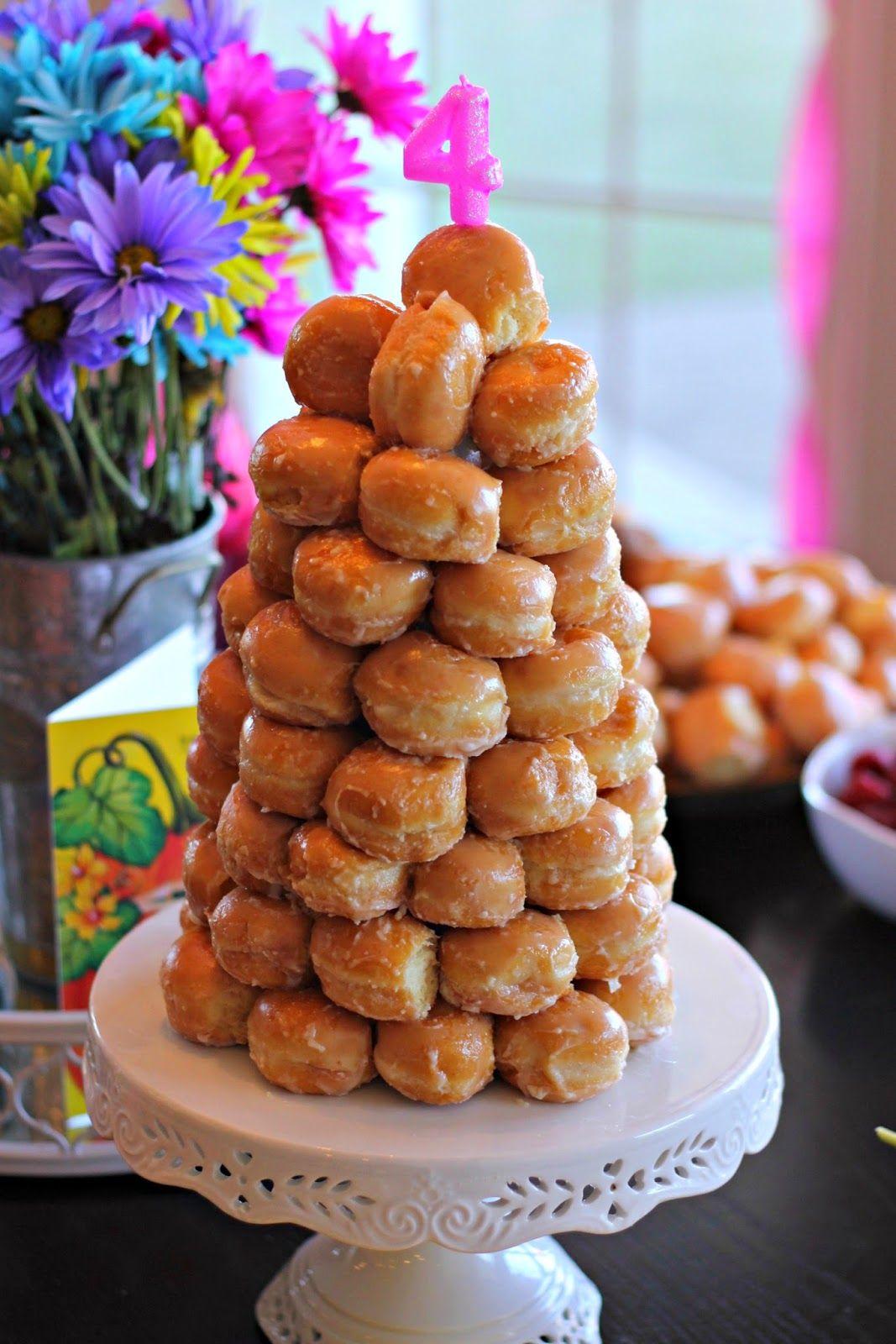 Abigails 4th donut birthday party birthday donuts