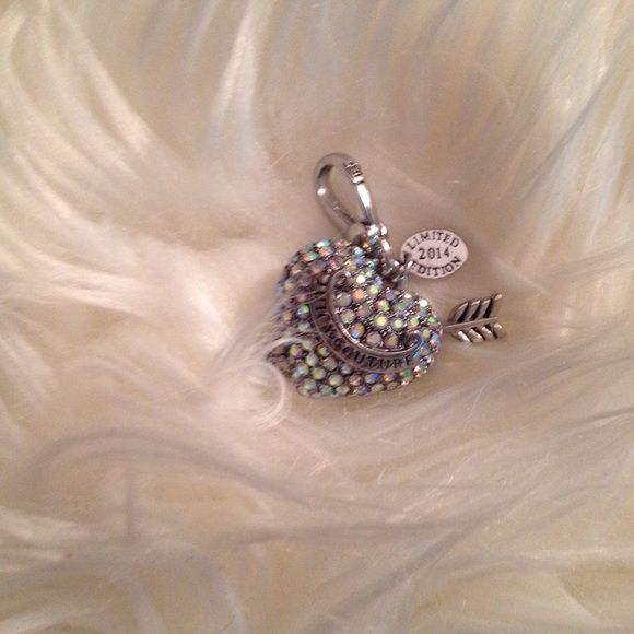 2014 limited edition large pave charm This charm is very pretty and bigger than the other pave heart charms by at least two times def a great charm not missing any stones that I know of Juicy Couture Jewelry