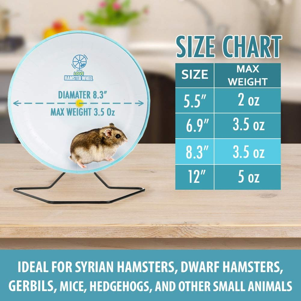 Hamster Wheel 8a Pet Comfort Exercise Wheel Large And Easy Attach To Wire Cage For Hamsters Gerbils Chinchillas Hedg Small Pets Syrian Hamster Exercise Wheel