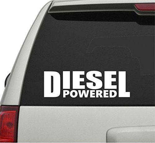 Diesel powered car truck window windshield lettering decal