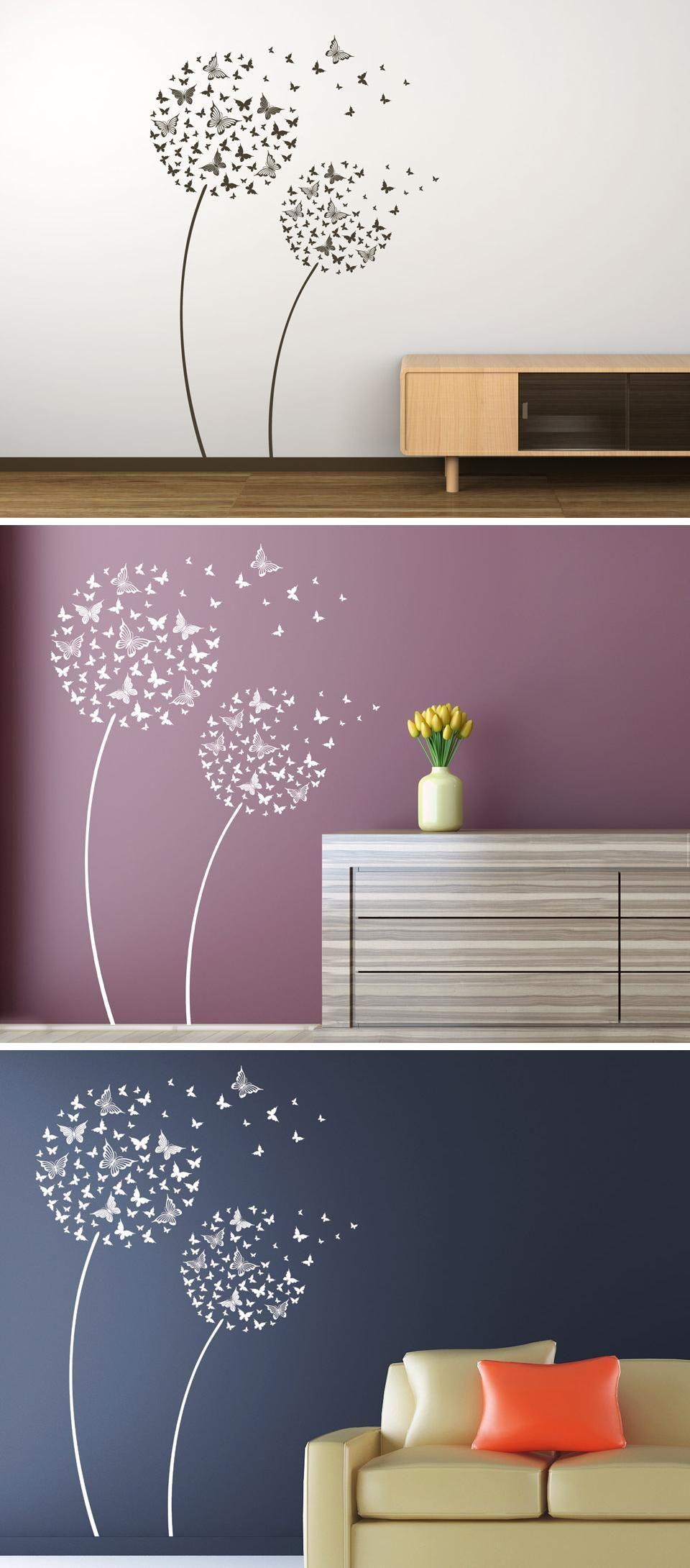 Wandtattoo Schmetterlingsblumen Wandtattoo Blumen Wandtattoo Kinderzimmer Wandtattoo Wohnzimmer
