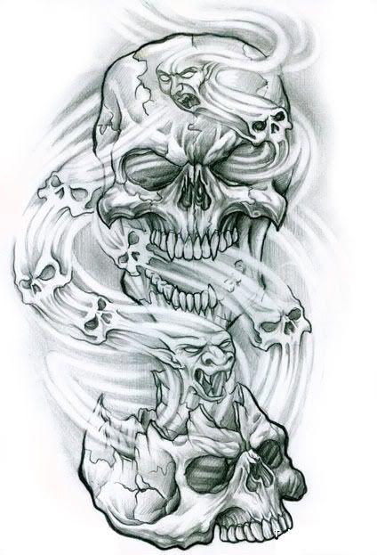 Dibujos De Cholos 13348 Jpg 424 623 Craneos Y Calaveras