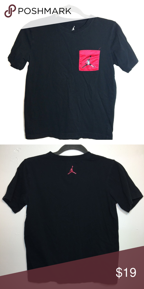 1476cb6a4892ef Boys Jordan T-Shirt For your soon to be Michael Jordan! Red mesh logo  pocket Small logo on back Jordan Shirts   Tops Tees - Short Sleeve