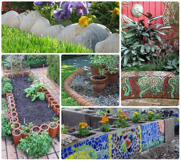 16 Creative Diy Vertical Garden Ideas For Small Gardens: 60 Flower Bed Edging Ideas