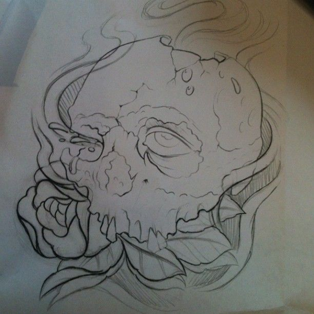 Skull Tattoo Sketch By Jerrid Rodriguez At Black Cat Tattoo In Austin Texas Black Cat Tattoos Cat Tattoo Sketches