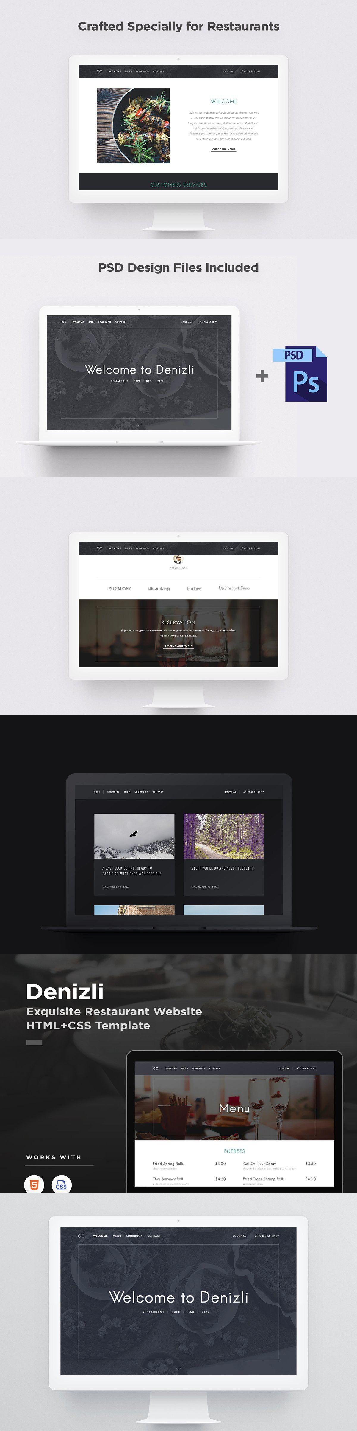 Denizli Restaurant HTML Template Psd designs