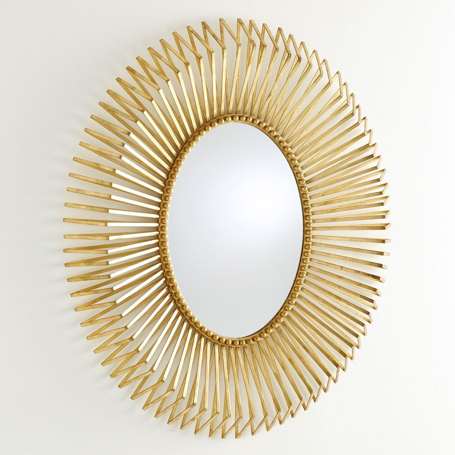 Global Views Andreas Wall Mirror in 20   Oval shaped mirror ...