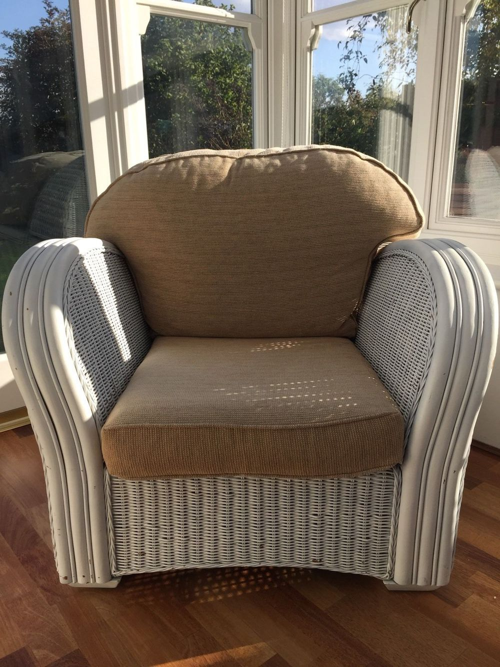 Large Wicker Conservatory Chair via PRELOVED FURNITURE MK