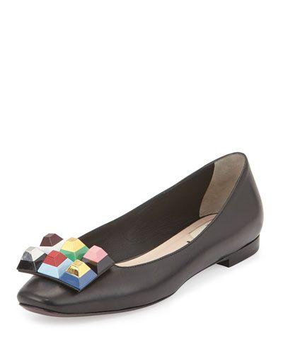 FENDI. Black Ballet ShoesBlack ...