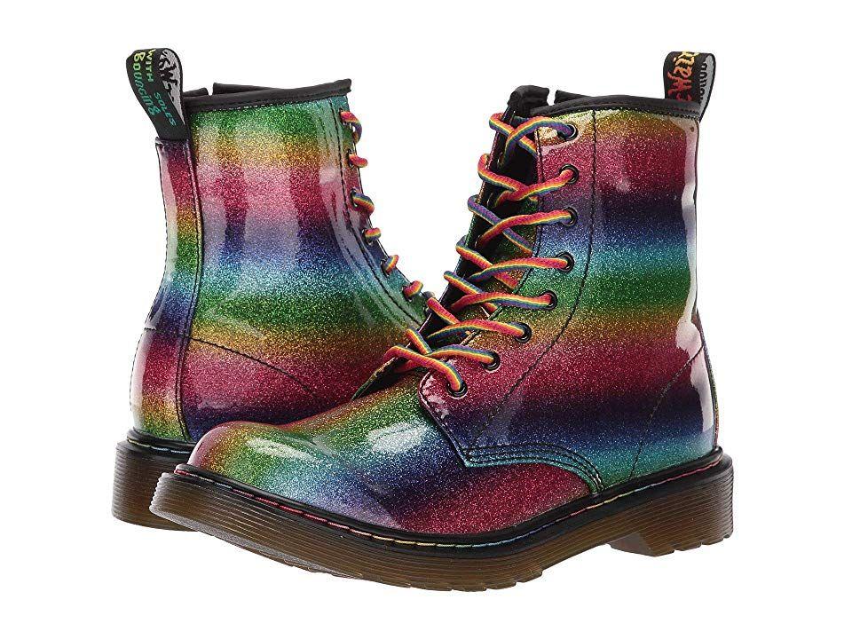 Girls Shoes Rainbow Glitter PU