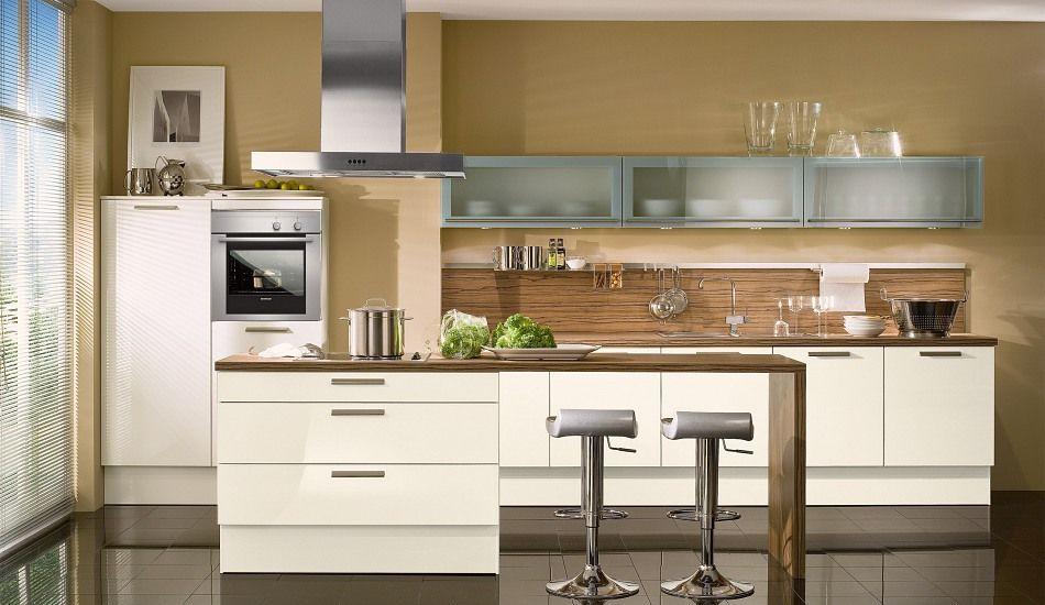 Einbauküche Aspen Magnolie Glänzend | peters style | Pinterest ...